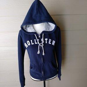 Hollister California navy blue hoodie size medium